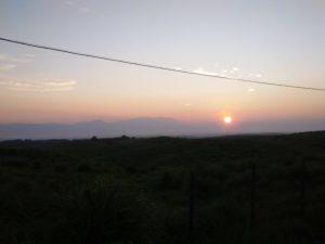 大観峰から望むくじゅうと朝日