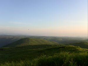 大観峰から望む外輪山